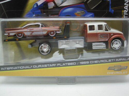 International_Durastar_flatbed_met_Chevrolet_Impala_1959_Jagersma_Miniaturen_Modelauto's