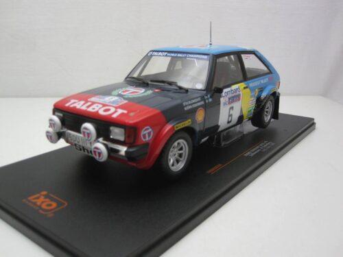 Talbot_Sunbeam_Lotus_#6_RAC_Blomqvist_Cederberg_1982_ixo18rmc035A_Jagersma_Miniaturen_Modelauto's