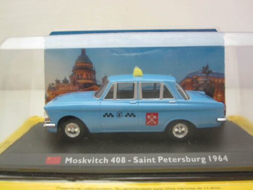 Moskvitch_408_sedan_St._Petersburg_taxi_1964_Mosk408tax64_Jagersma_Miniaturen_Modelauto's