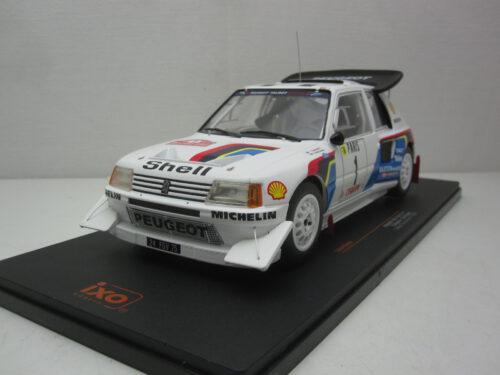 Peugeot_205_T16_E2_#1_RMC_TalbotSport_Salonen_harjanne_1986_ixo18rmc049A_Jagersma_Miniaturen_Modelauto's