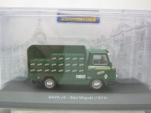 Sava_BMC_Austin_J4_San_Miguel_biertransport_bestelauto_1974_savaJ4gr74_Jagersma_Miniaturen_Modelauto's