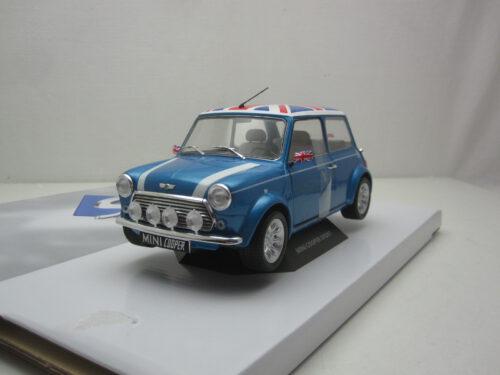 Mini_Cooper_1.3i_Sport_Engelse_vlag_Union_Jack_op_dak_Fisherman_blue_1997_soli1800607_Jagersma_Miniaturen_Modelauto's